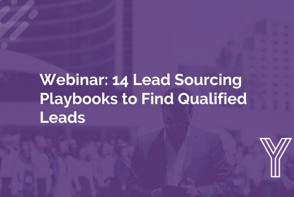 Lead Sourcing Playbooks for B2B Companies 14